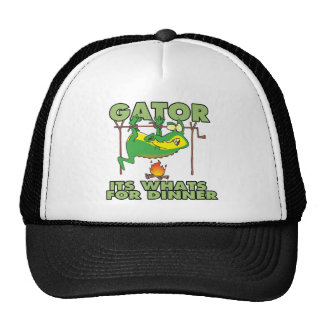 GATOR its whats for dinner funny cartoon Hats