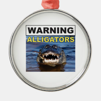 gator jaws metal ornament