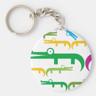 Gator Basic Round Button Keychain