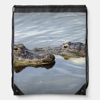 Gator Love Drawstring Backpack