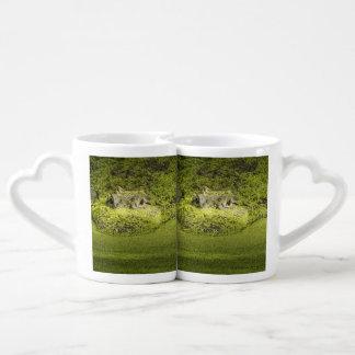 Gator Lurking in Duckweed - Nature Photograph Coffee Mug Set