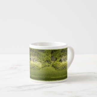 Gator Lurking in Duckweed - Nature Photograph Espresso Cup