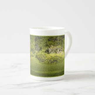 Gator Lurking in Duckweed - Nature Photograph Tea Cup