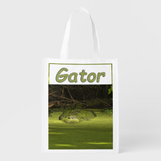 Gator Lurking in Duckweed - Nature Photograph Market Tote