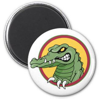 Gator Mascot 2 Inch Round Magnet
