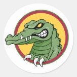 Gator Mascot Classic Round Sticker