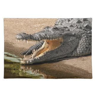 Gator Portrait  with Mouth Wide Open Placemat