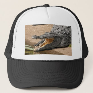 Gator Portrait  with Mouth Wide Open Trucker Hat