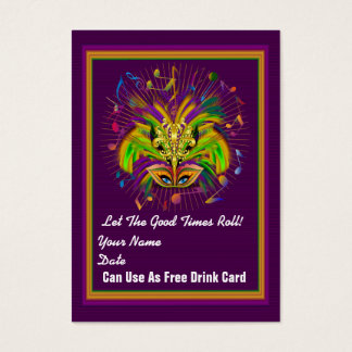 Gator Queen Mardi Gras Throw Card See notes