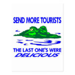 Gator Send More Tourists Postcard