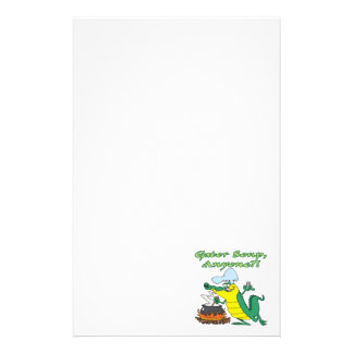 gator soup anyone funny alligator cooking cartoon stationery