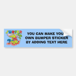 Gator Surfing T-shirts and Gifts Car Bumper Sticker