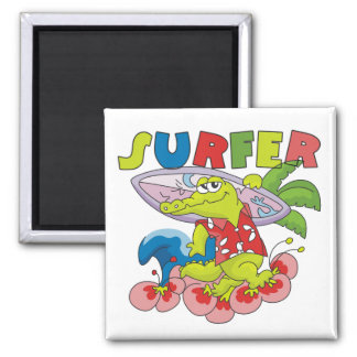 Gator Surfing T-shirts and Gifts Refrigerator Magnets