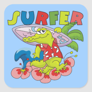 Gator Surfing T-shirts and Gifts Stickers