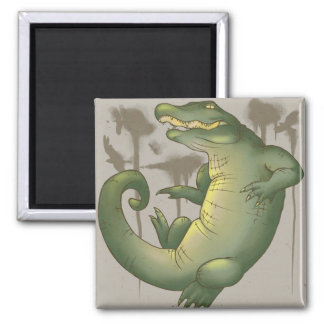 Gator Territory 2 Inch Square Magnet