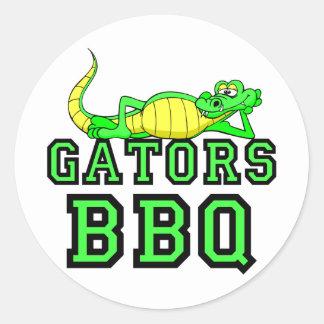 Gators BBQ Classic Round Sticker