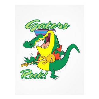 gators rock rock n roll alligator cartoon flyer