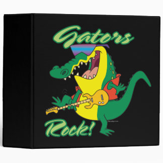 gators rock rock n roll alligator cartoon vinyl binder