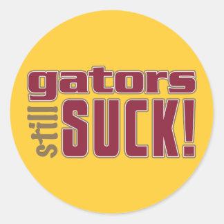 gators still SUCK! Classic Round Sticker