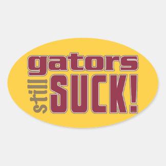 gators still SUCK! Oval Sticker