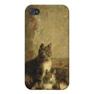 Gatos, 1883 iPhone 4 fundas