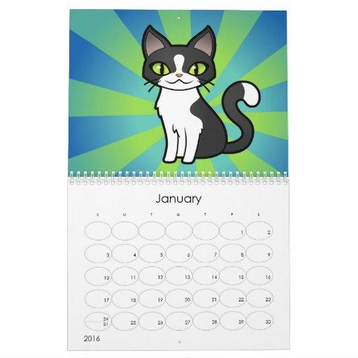 Gatos 2011 del dibujo animado (diseñe sus los calendario