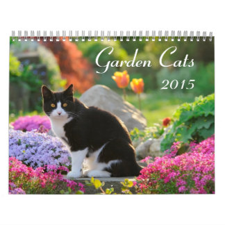Gatos 2015 del jardín calendarios