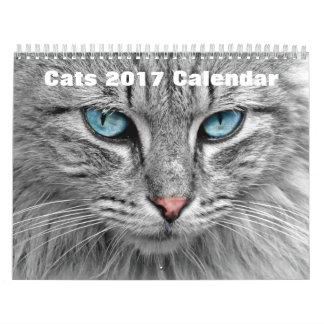 Gatos 2017 calendarios de pared
