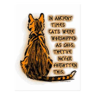 Gatos adorados como dioses postal
