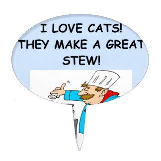 gatos figura para tarta
