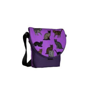 Gatos al azar bolsas de mensajeria