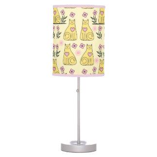 Gatos amarillos lámpara de mesilla de noche