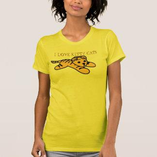"""¡Gatos amarillos lindos """"RRROOWR del gatito del Camisetas"""