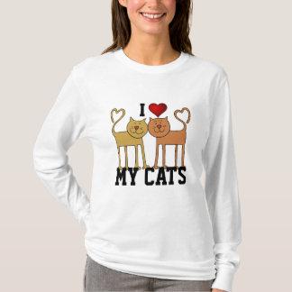 Gatos: Amo mis gatos Playera