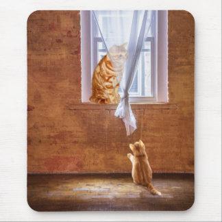 Gatos anaranjados del gatito del tabby tapete de ratón