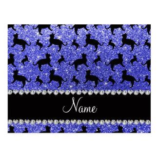 Gatos azules de neón conocidos personalizados del tarjeta postal