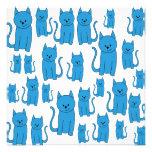 Gatos azules, sentándose anuncios