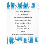 Gatos azules, sentándose invitacion personal