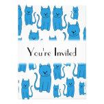 Gatos azules, sentándose invitación personalizada