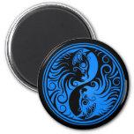 Gatos azules y negros de Yin Yang Imán