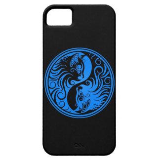 Gatos azules y negros de Yin Yang iPhone 5 Fundas