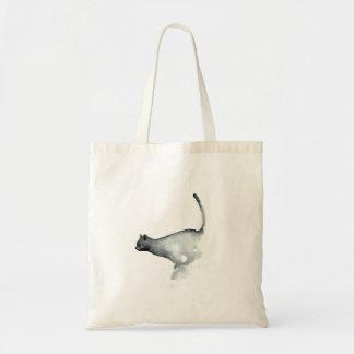 Gatos blancos del bolso del gato gruñón gris bolsa tela barata