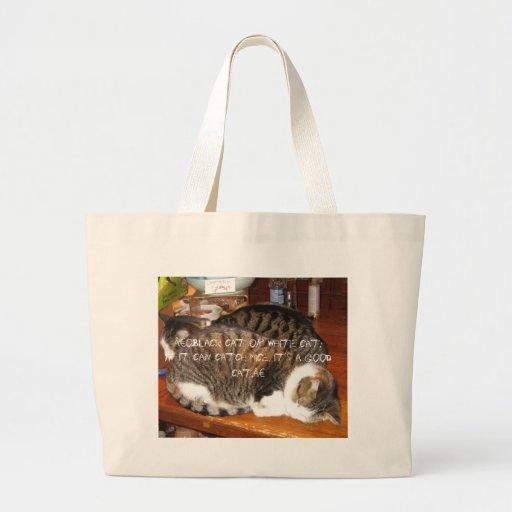 gatos bolsa de mano