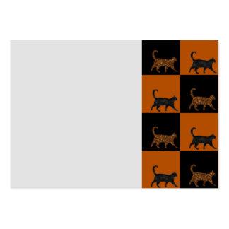 Gatos brillantes tarjetas de visita grandes