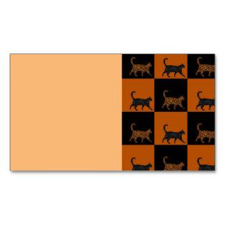 Gatos brillantes tarjetas de visita magnéticas (paquete de 25)