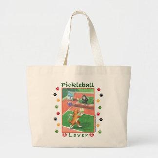 Gatos brote de Pickleball y bolso de Tony Bolsa Tela Grande