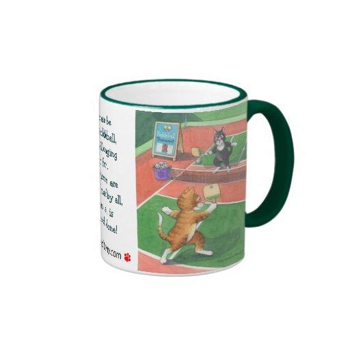 Gatos brote de Pickleball y taza de Tony