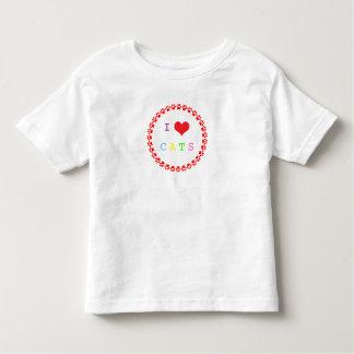 Gatos camiseta, regalo del corazón del amor del playeras