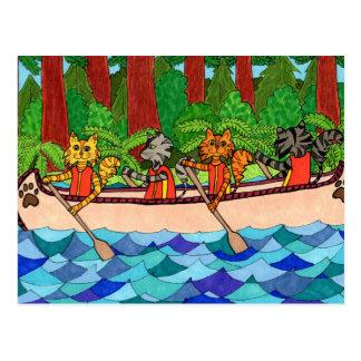 Gatos Canoeing Postal