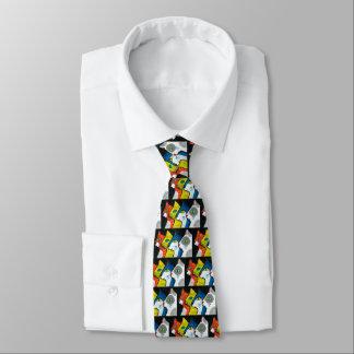 gatos coloridos dibujados en perfil corbatas